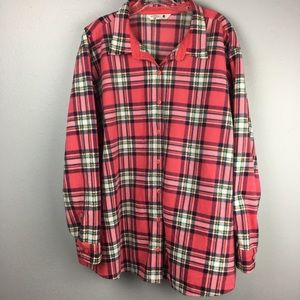 AWESOME LEE RIDER PINK PLAID FLEECE SHIRT SIZE 3X